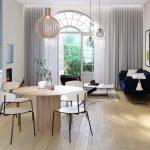 Vue 3D d'un appartement (P005) du Manoir de la Vicomté.