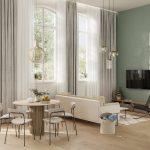 3D intérieure de l'appartement 12 des Pavillons de Palissy